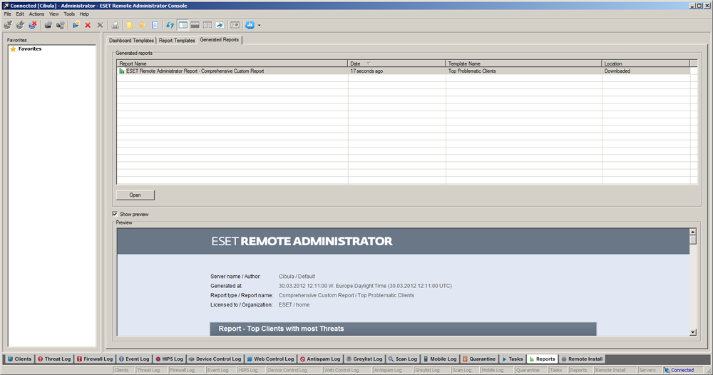 ESET Remote Administrator 5