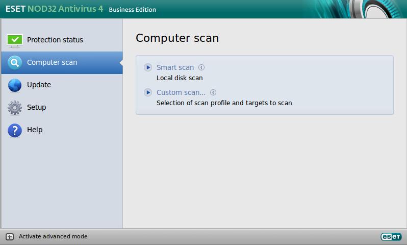 ESET NOD32 Antivirus Linux Scanare
