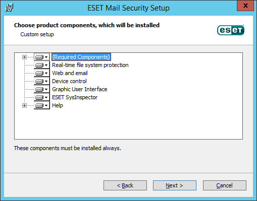 ESET Mail Security Domino Componente
