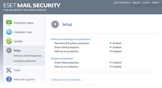 ESET Mail Security Exchange45 Configurare