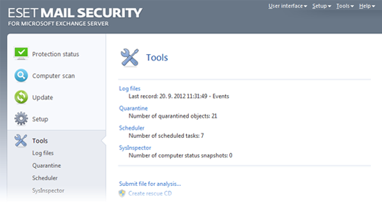 ESET Mail Security Exchange45 utilitare
