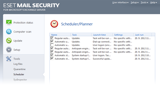 ESET Mail Security Exchange45 programare utilitare